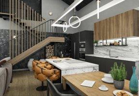 Фотография 10141  категории 'Двухэтажная баня в посёлке Бурцево 134 м²'