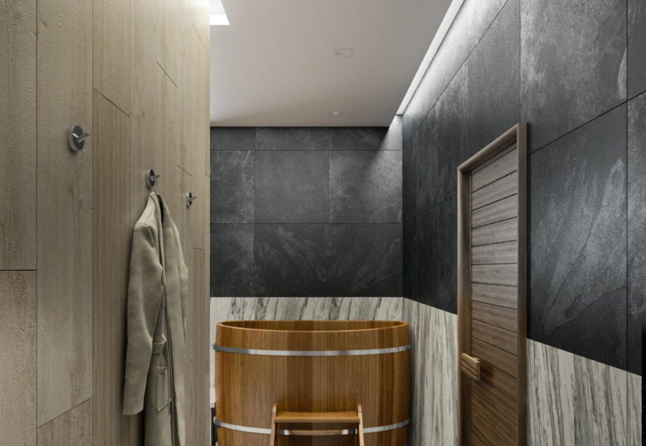 Фотография 10155  категории 'Двухэтажная баня в посёлке Бурцево 134 м²'