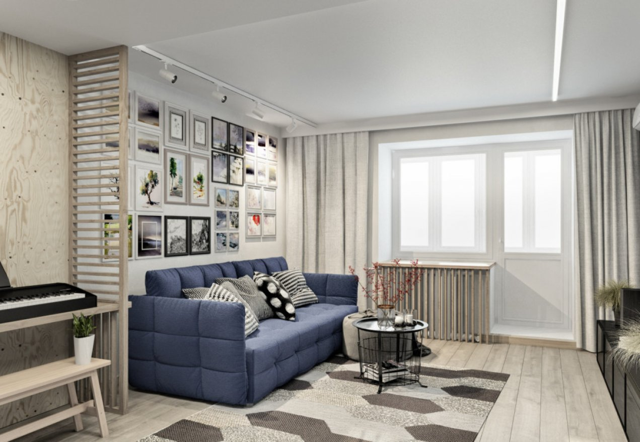 Фотография 10033  категории 'Трёхкомнатная квартира 78 м²'