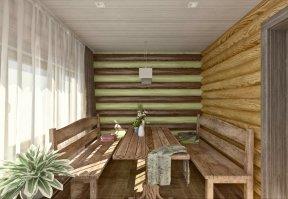 Фотография 3555  категории 'Баня 47 м²'