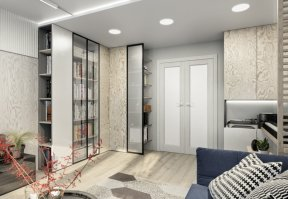 Фотография 10036  категории 'Трёхкомнатная квартира 78 м²'