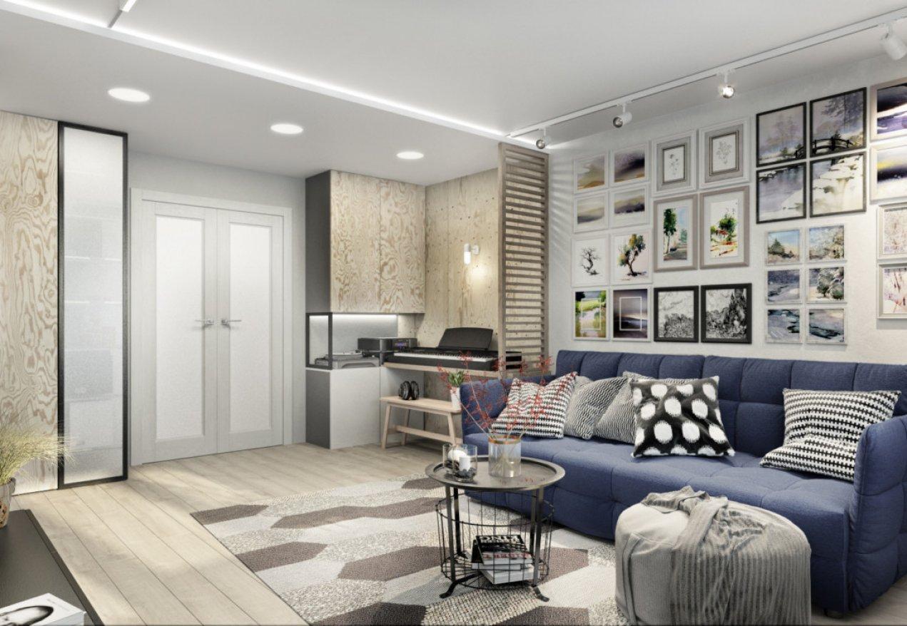 Фотография 10034  категории 'Трёхкомнатная квартира 78 м²'