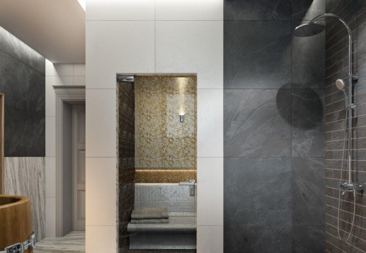 Фотография 10159  категории 'Двухэтажная баня в посёлке Бурцево 134 м²'