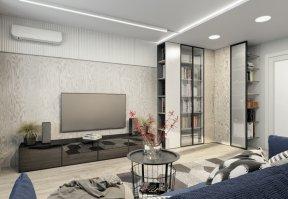 Фотография 10035  категории 'Трёхкомнатная квартира 78 м²'