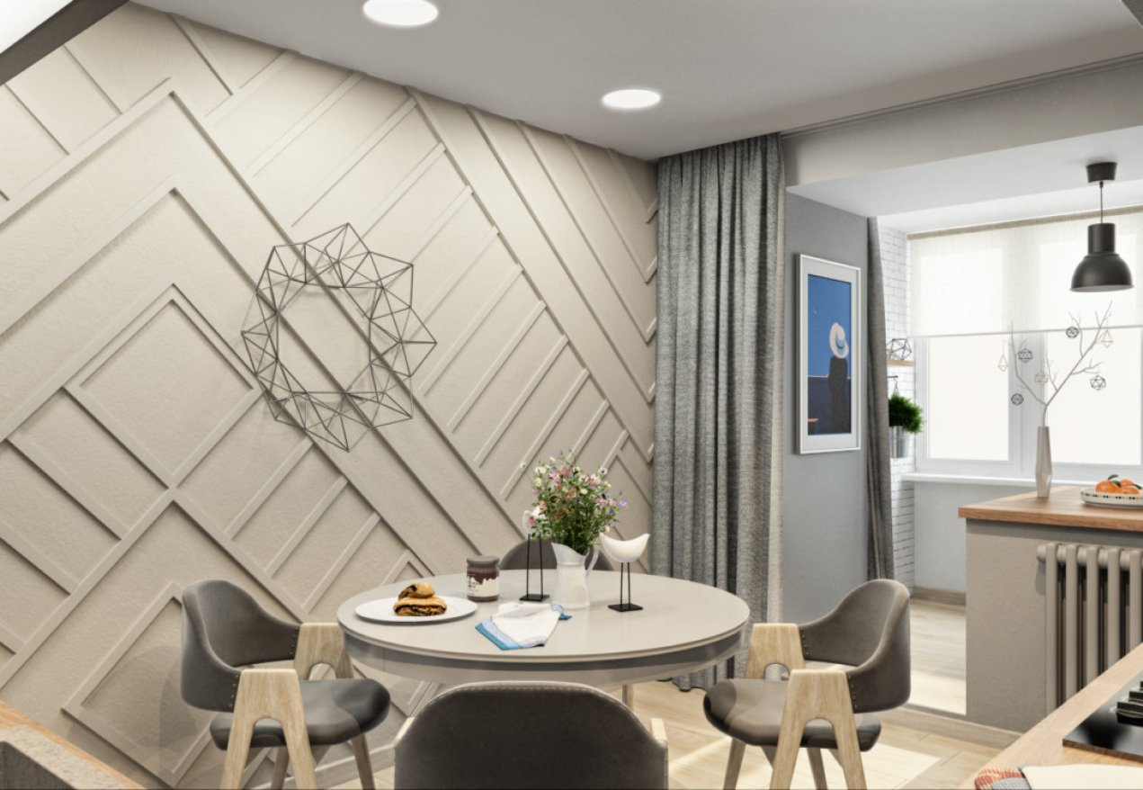 Фотография 10040  категории 'Трёхкомнатная квартира 78 м²'