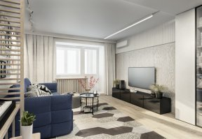 Фотография 10032  категории 'Трёхкомнатная квартира 78 м²'