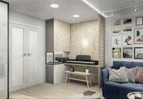 Фотография 10037  категории 'Трёхкомнатная квартира 78 м²'
