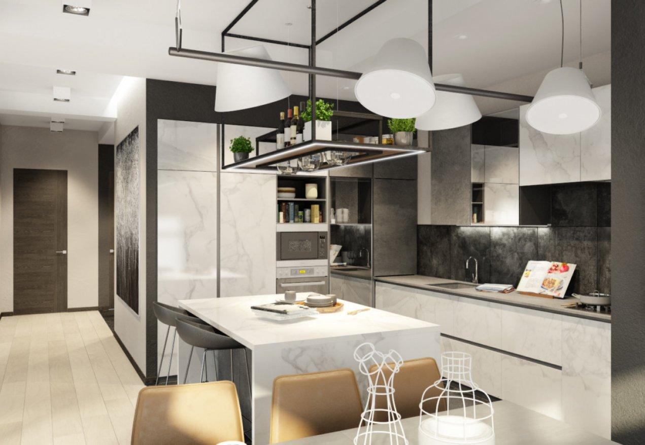 Фотография 10103  категории 'Трёхкомнатная квартира в Н. Новгороде 130 м²'