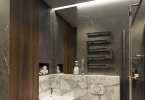 Фотография 10132  категории 'Трёхкомнатная квартира в Н. Новгороде 130 м²'