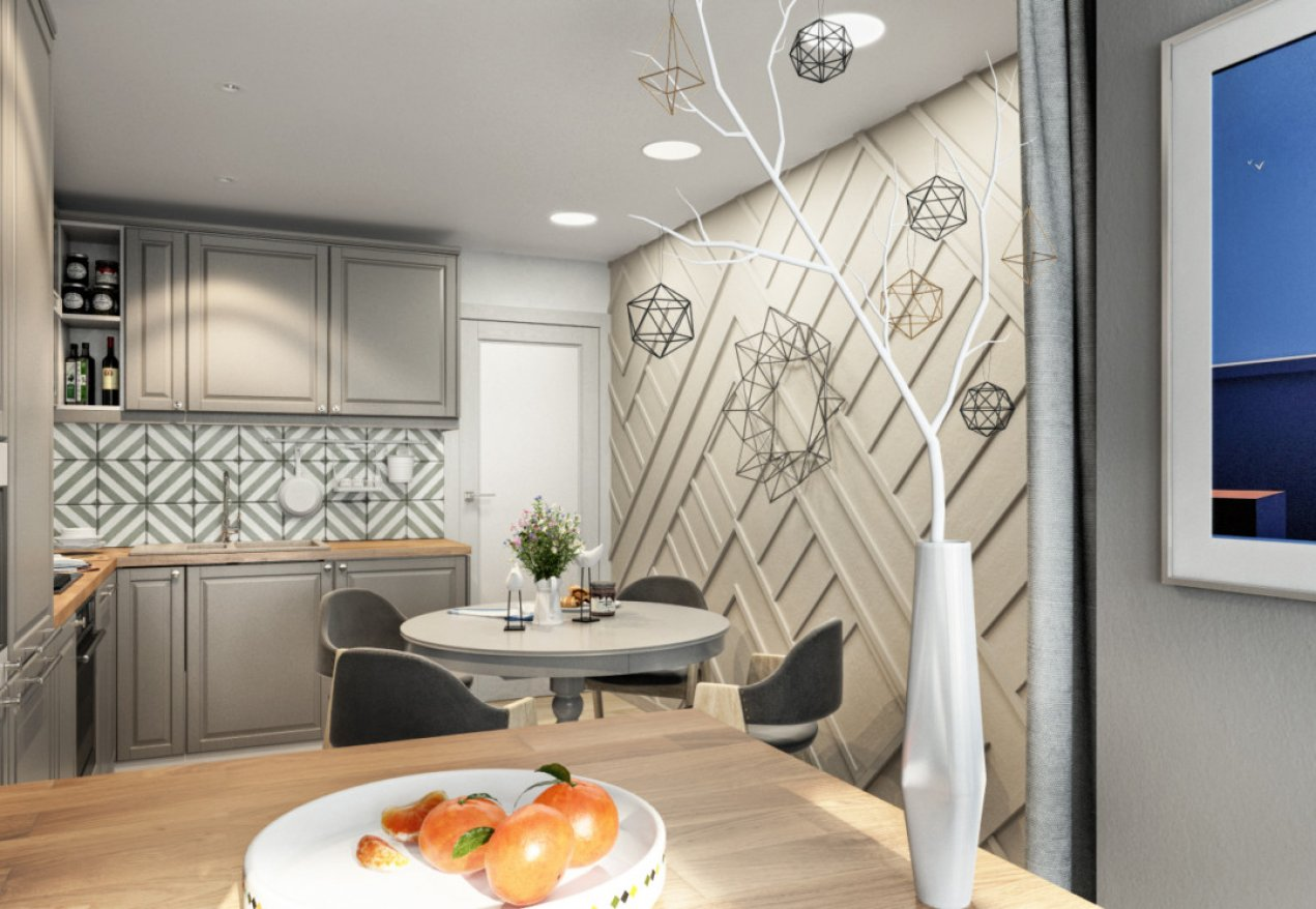 Фотография 10042  категории 'Трёхкомнатная квартира 78 м²'
